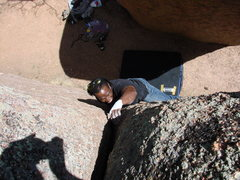 Rock Climbing Photo: Ken Alston, 5.10 crack on Corridor Rock.