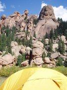 Rock Climbing Photo: Lost Creek bivy.
