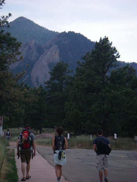 Ben, Heidi and Robby setting off from NCAR, 7.10.07