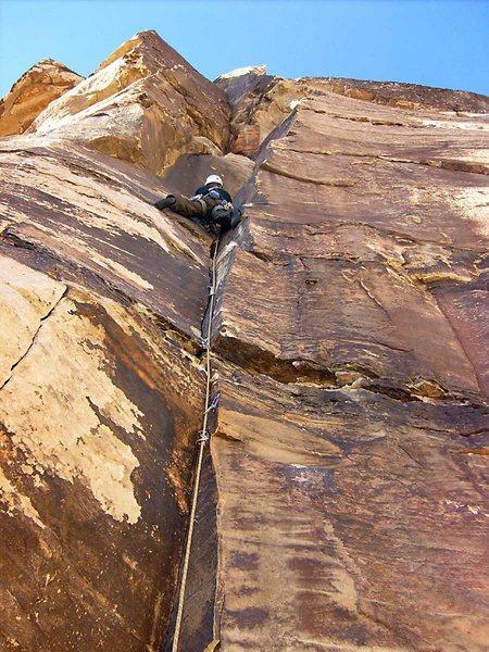 Rock Climbing Photo: The initial corner on Arrow Place.