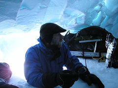 Rock Climbing Photo: Canadian hardman James Blench visiting our snow ca...