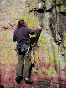 Rock Climbing Photo: Jay- Halloween '03 on the Yellow Lichen crack.  Gr...