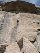 Rock Climbing Photo: Hard and exciting would describe this route fairly...