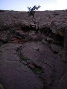 Rock Climbing Photo: Sunken section start.