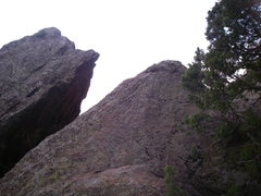 Rock Climbing Photo: The one airy step off the summit.