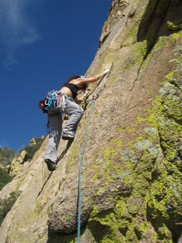 Rock Climbing Photo: First trad lead, Ewephoria, Cochise