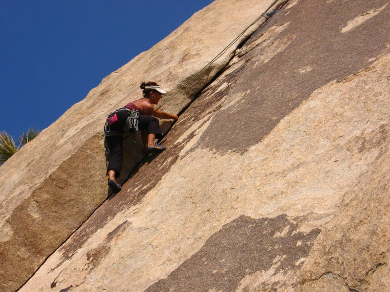 Rock Climbing Photo: Loving the crack on Heart and Soul, Jtree