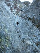 Rock Climbing Photo: Pitch one cool lichen