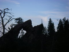 Rock Climbing Photo: Great views of the Royal Arch.  The turkey vulture...