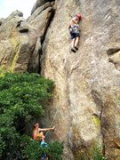 Rock Climbing Photo: Matt King looking for his first piece.  He added o...