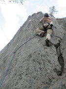 Rock Climbing Photo: Kurtis Stadsvold moving from 3rd to 4th bolt on th...