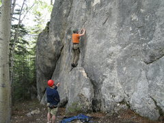 Rock Climbing Photo: Brian Birkholtz on top rope. Chuck Ashcraft on bel...