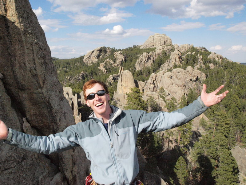 Top of the Shark's Tooth in the South Seas Area, Black Hills SD. Route was Shark's Breath