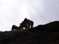 Rock Climbing Photo: Goat Skin, Chopping Block-SD. early climbing day b...