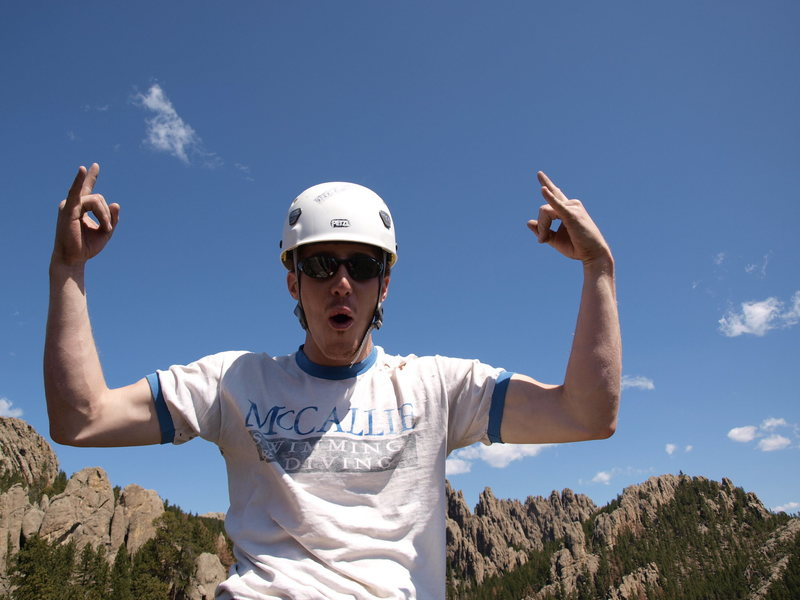 Rock Climbing Photo: top of Tricouni, such a sweet summit. Cathedral Sp...