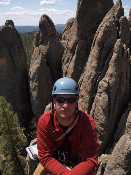 Rock Climbing Photo: view from the other direction on Tricouni. Partner...