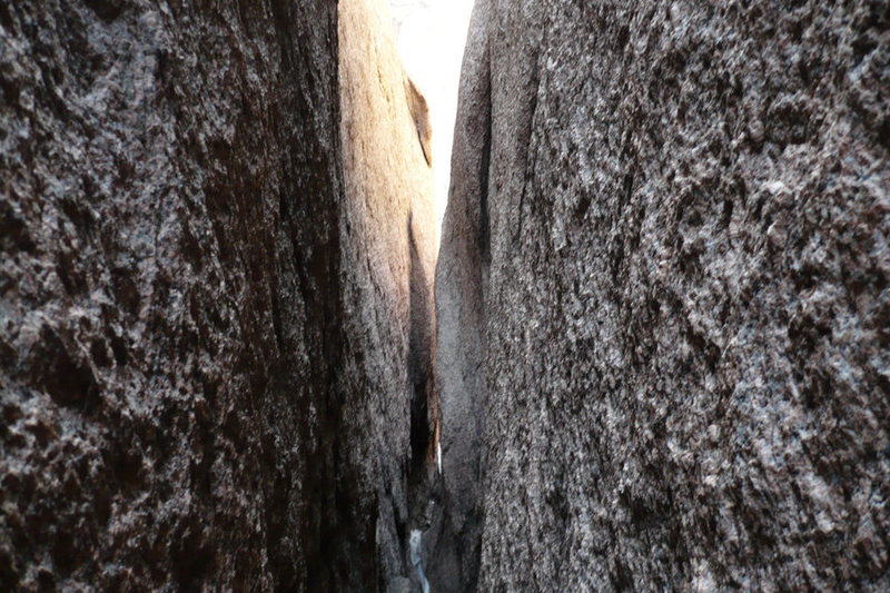 Rock Climbing Photo: This is the big chimney that you down climb on pit...