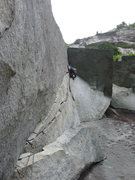 Rock Climbing Photo: Brad wishing he had saved the right gear for the r...