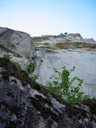 Rock Climbing Photo: Looking up at the Sheriff's Badge from the right s...