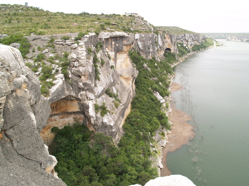 Rock Climbing Photo: View of the Pecos River downstream from Continenta...