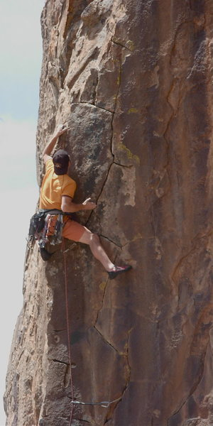 Mark Anderson on Zorro. A great thin crack route.