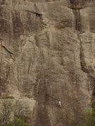 Rock Climbing Photo: My first multipitch. Texas type.