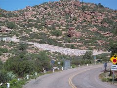 New gate and no trespassing sign at The Mine Area.  The parking area as we knew it is no longer.  However there is ROAD SIDE parking and hiking/climbing access (I've read this is courtesy of the Resolution Copper Company).