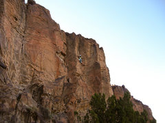 Rock Climbing Photo: Tamara walking through the increasingly steep face...