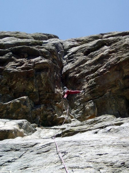 Rock Climbing Photo: Wild but easy stemming. Photo by Paul Rezucha.