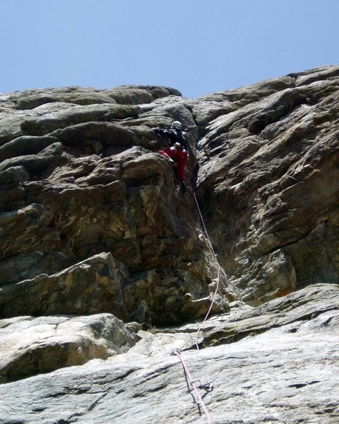Rock Climbing Photo: It's easy to get out to this ledge on the left led...
