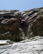 Rock Climbing Photo: More wild stemming. Just above this you can swing ...