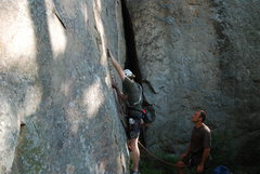 Rock Climbing Photo: Me on Knife, Dustin belaying.  Grace Under Pressur...