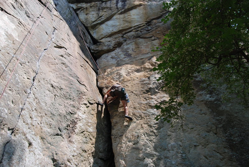 Fun climb between knife and grace.