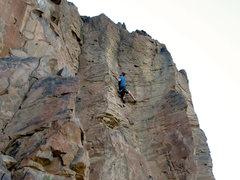 Rock Climbing Photo: Chuck sending one of cockscomb's great 5.10s