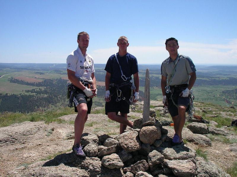 Summit Shot with my buddies Matt and Mike.