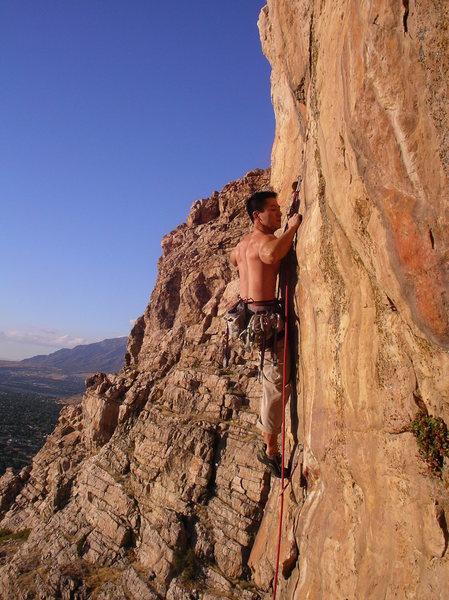 Rock Climbing Photo: B.N.F. in the Alcove