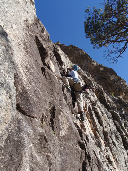 Rock Climbing Photo: Duffy working on his flash of Good Witch, his seco...