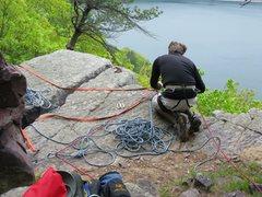 Rock Climbing Photo: Top of Via Apia