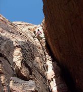 Rock Climbing Photo: The decision point on pitch 3 of Ernest Stemmingwa...