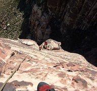 Rock Climbing Photo: The easy upper slabs.