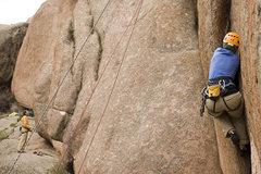 Rock Climbing Photo: Kate jamming away on Flake-O-Saurus at the Jurassi...