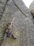 Rock Climbing Photo: Pop that collar.