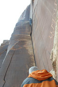 Rock Climbing Photo: Amaretto Roof Move