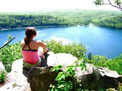 Rock Climbing Photo: Devil's Lake East Bluff