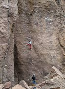 Rock Climbing Photo: Trying to out climb the impending rain.  Featuring...