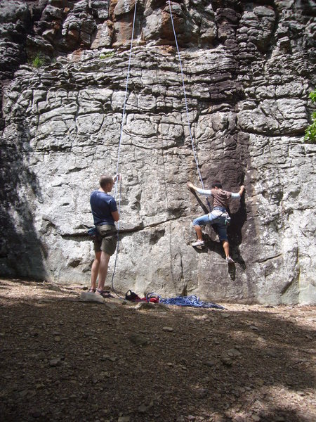 Rock Climbing Photo: Starting Sundial- its harder when you're short...