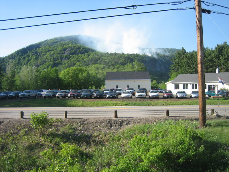 Rumney forest fire, May 28th. This gives a sense of scale. The fire as seen from Hwy 25. <br>