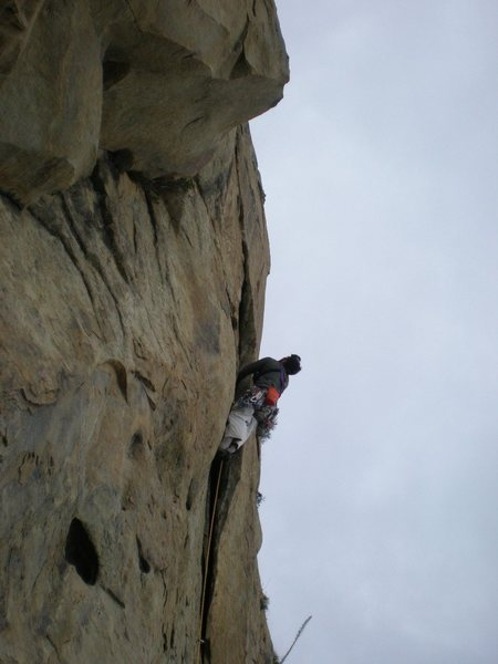 Rock Climbing Photo: A few moves into the first pitch of the South Face...