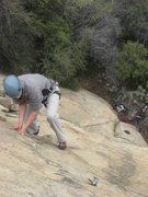 Rock Climbing Photo: Tom Hall putting a little lieback into it. P1 of S...