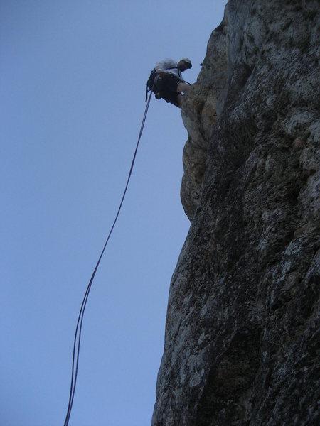 Rock Climbing Photo: Doug abseiling Wilderness Wall